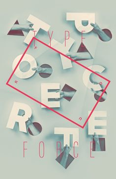 Typeforce 4 Submission Announcement on Behance #poster #typography