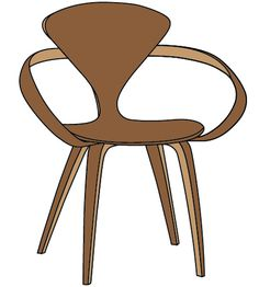 Norman Cherner - Cherner Chair - #illustration #interiordesign