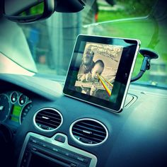 iPad Windshield Mount #tech #flow #gadget #gift #ideas #cool