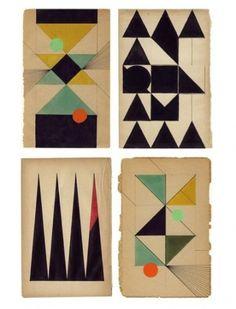 Google Reader (1000+) #paper #vintage #geometric