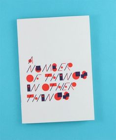 Damien Correll • A Number of Things In Other Things #zine #design #correll #damien #typography