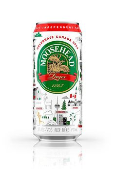 Limited Edition Moosehead Canada day packaging #limited #beer #canada #edition #packaging #day #lager #moosehead #can