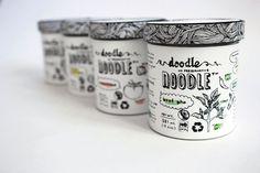 Doodle Noodle – Single serve soup packaging