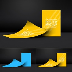 Posters mock up template Free Psd. See more inspiration related to Poster, Mockup, Template, Web, Website, Mock up, Poster template, Posters, Templates, Website template, Mockups, Up, Collection, Web template, Set, Realistic, Real, Web templates, Mock ups, Mock and Ups on Freepik.