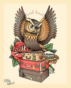 Rik Lee #tattoo #lee #owl #rik