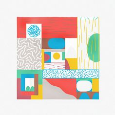 Downstairs – Damien Correll #illustration #pattern #art