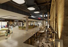 Mall interior visualisation. PLAZMA architects. View 01 #interior #viz #mall