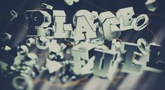 PlaceFull / Mr.Frukta #2012 #cinema #vray #mrfrukta #typography