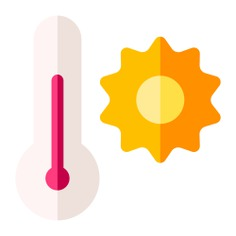 See more icon inspiration related to sun, weather, fahrenheit, celsius, degrees, mercury, electronics, thermometer, temperature and hot on Flaticon.