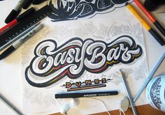 lettering sketches (2014)