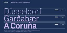 Zimmer #font #typeface
