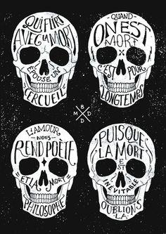 http://www.bmddesign.fr/skull_hand_lettering/shull_hand lettering_004.jpg #lettering #illustration #type #skull #hand