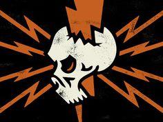 Brandon Rike #mark #bolt #lightning #logo #skull