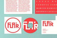 Flair by Gabriel Finotti #branding #stationary #red