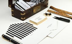 Menswear Stationery Collaterals #printing
