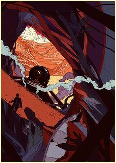 Various work 08 on the Behance Network #color #illustration #scifi #art #kilian #eng