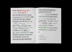 Grafik Design — Philipp Herrmann #piek #font #specimen #design #typeface #type