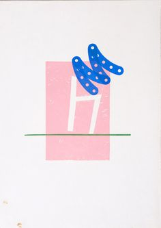 Karel Martens Untitled, 1994 letterpress monoprint on paper 8 ⁷⁄₈ × 12 ½ in. (225 × 319 mm) #illustration #letterpress #art