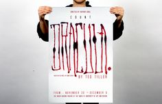 Count Dracula #lettering #ink #theatre #dracula #poster