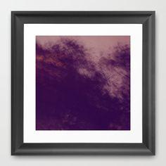 Dark Shapes Framed Art Print