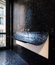 CJWHO ™ (This washbasin is called Skin by Lago) #sink #design #interiors #bathroom #furniture #photography #mosaic #luxury