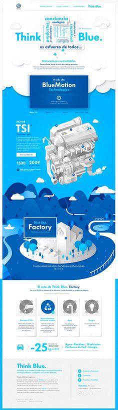 Volkswagen - Think Blue. Website on Behance #volkswagen #think #behance #blue
