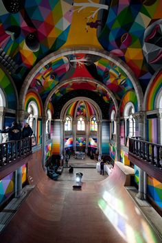 church, color, rainbow, bright, face