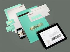 Montreux Café identity design by Büru UFHO #branding #ipad #food #restaurant #envelope #collateral #stationery #foil