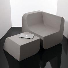 Dezeen » Blog Archive » Dual Cut by Kitmen Keung for Sixinch #chair #design #slice #foam #ottoman #product #furniture