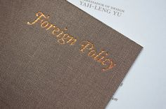 Design Work Life » Foreign Policy Design Group: Business Cards #business #design #graphic #identity #cards #typography
