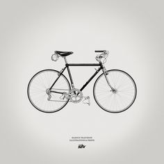 Silence Television new vintage prints #white #bicycle #print #black #illustration #vintage #bike #and #bw