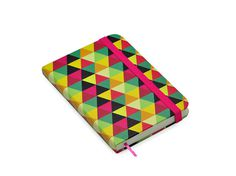 Geometric Collection notebook - Cicero Papelaria (Bianca Damasceno Design) #pink #design #geometric #surface #colors #stationery #bianca #notebook #damasceno