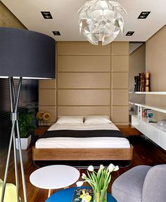Chic Moscow Studio chic moscow studio bedroom #interior #bedroom #small #design