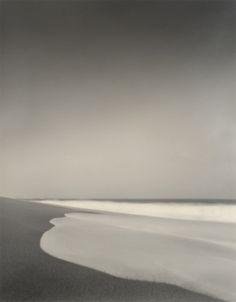 black white & gray #ocean #beach #black and white #gray #sand