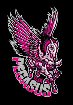 TEAM PEGASUS - Brett Peter Stenson #team #pegasus #brett #illustration #stenson #logo
