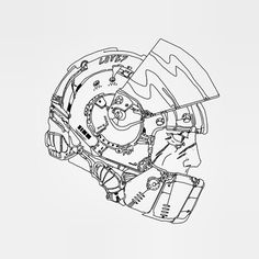 Motoracer #motor #helmet #wip #illustration #bike #art #race