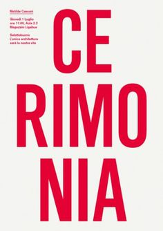 Salottobuono > news #design #minimal #poster #essential #type #typography