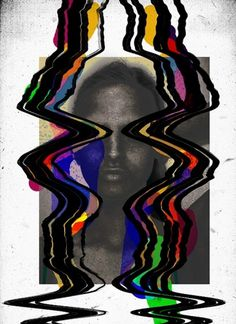 Work by Tuscani Cardoso #dada #black #saturation #paint #portrait #colour #art #tuscani #collage #scan