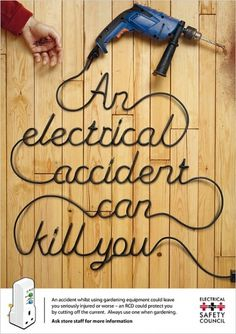 Naju – Portfolio of Graphic Designer Shahnaz Ahmed #safety #poster #electrical #death #typography