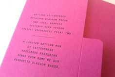 Creative Review - That's Impressive: promoting letterpress #letterpress #folder