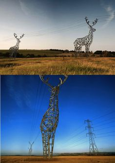 deer shaped pylons concept by DesignDepot