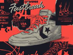 Converse Fastbreak '83 Sneaker Illustration