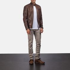 leather jacket, Dean Brown jacket