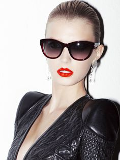 Sigrid Agren by Katja Rahlwes for Numéro France #sexy #model #red #girl #photo #women #photography #portrait #fashion #lipstick #beauty