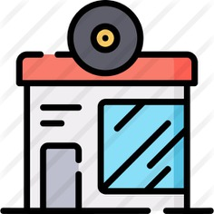 See more icon inspiration related to music shop, music and multimedia, architecture and city, music store, music notes, vinyl, building, logo, disc, squares and music on Flaticon.