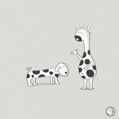 Lonelypeopleart :: Illustration • sorry, we are different… ... #illustration #giraffe #animals