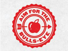 Apple Archer #mark #badge #button #seal #logo