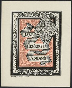 BibliOdyssey #bookplate #harry #1883 #soane