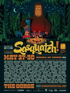 Invisible Creature Speaks » Blog Archive » Sasquatch! Turns 10 #illustration #poster #typography