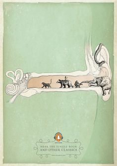 The Jungle Book | Penguin Books | Y #penguin #illustration #advertising